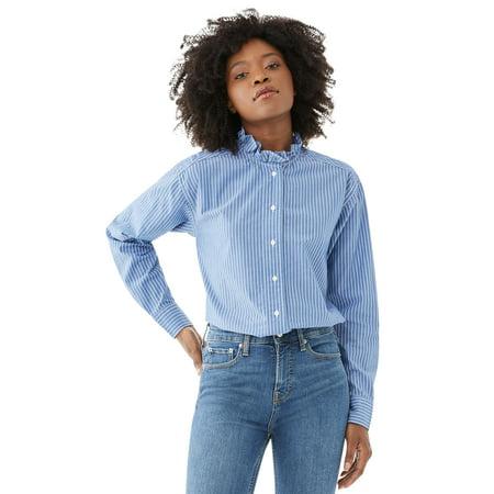 Free Assembly Women's Femme Ruffled Blouse
