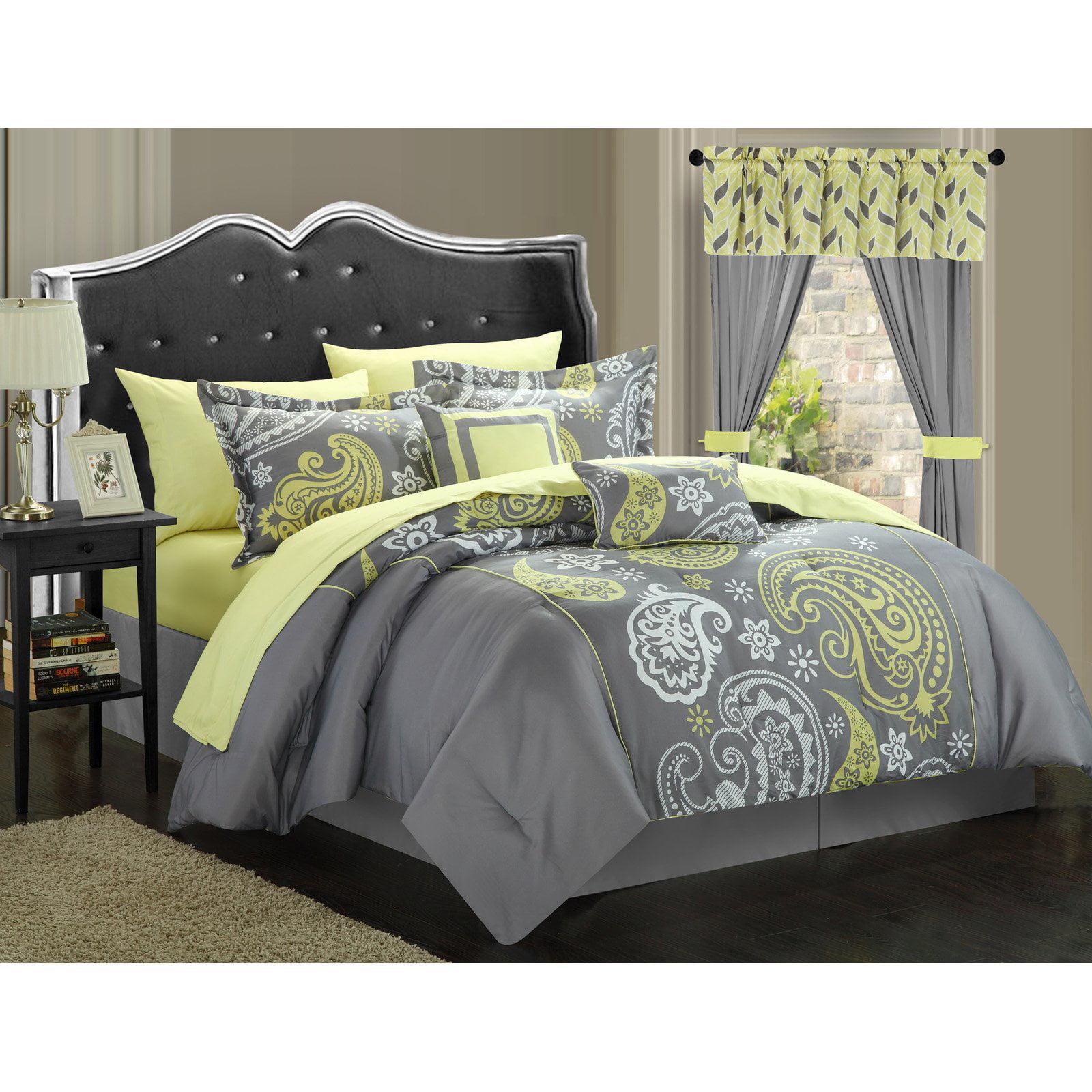 chic home olivia  piece paisley print reversible comforter set  - chic home olivia  piece paisley print reversible comforter set walmartcom
