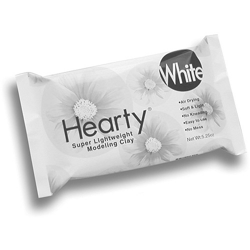 Hearty Super Lightweight Air Dry Clay 5.25 oz, White