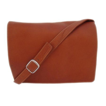 Piel Leather Small Handbag with Organizer - Saddle