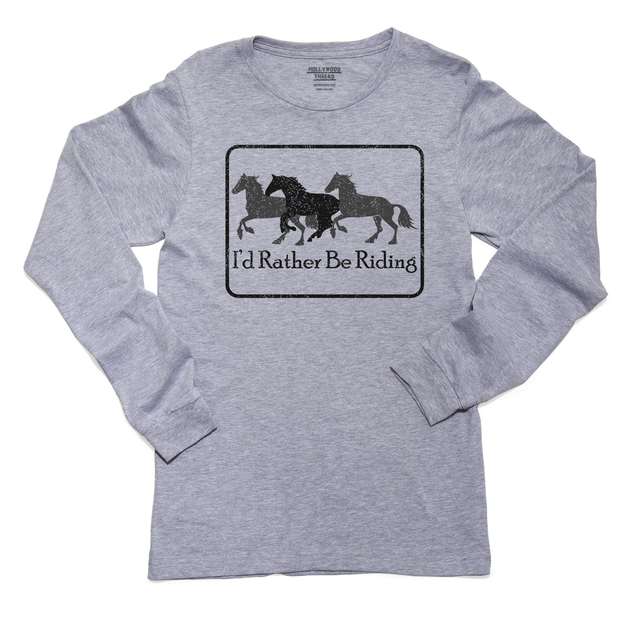 1Tee Mens I/'d Rather Be Riding Horse T-Shirt