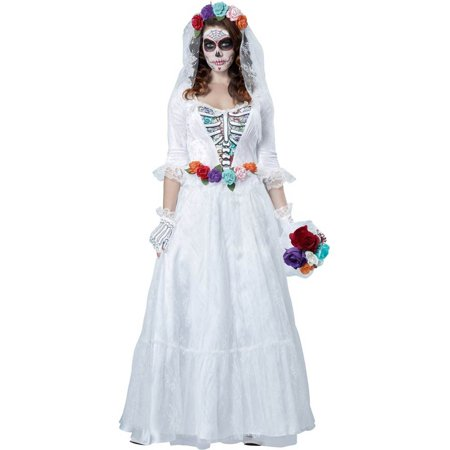 La Novia Muerta Day of Dead Adult Costume - La Boardwalk Halloween