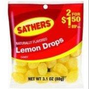 Sathers Lemon Drops 12 pack (3.1oz per pack) (Pack of 2)