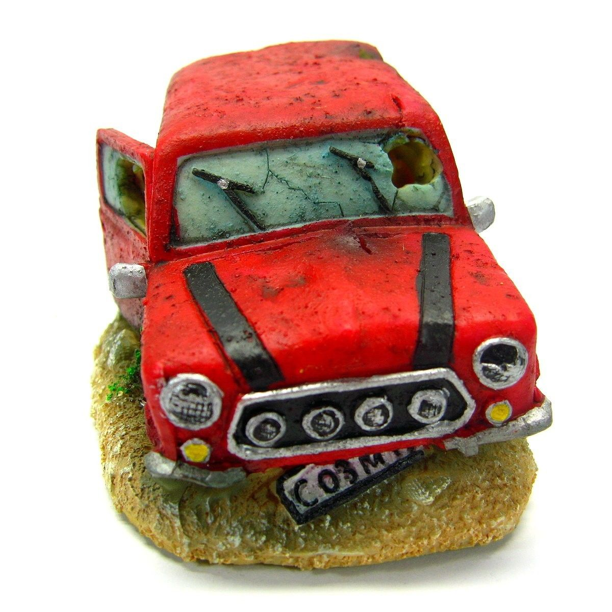 "Car Bubbles 5.7x3.4x2.8"" Aquarium Ornament Decoration - fish tank air stone"