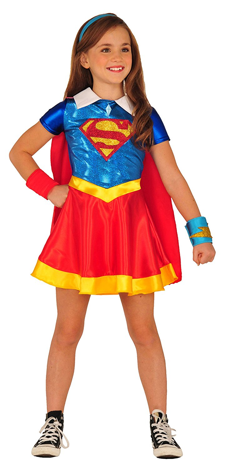 sc 1 st  Walmart & Supergirl Dc Super Hero Girls Child 4 Costume - Walmart.com