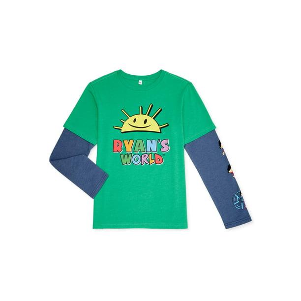 Ryan's World Boys Exclusive 4-12 Sunshine Logo 2 Toned Long Sleeve T-Shirt