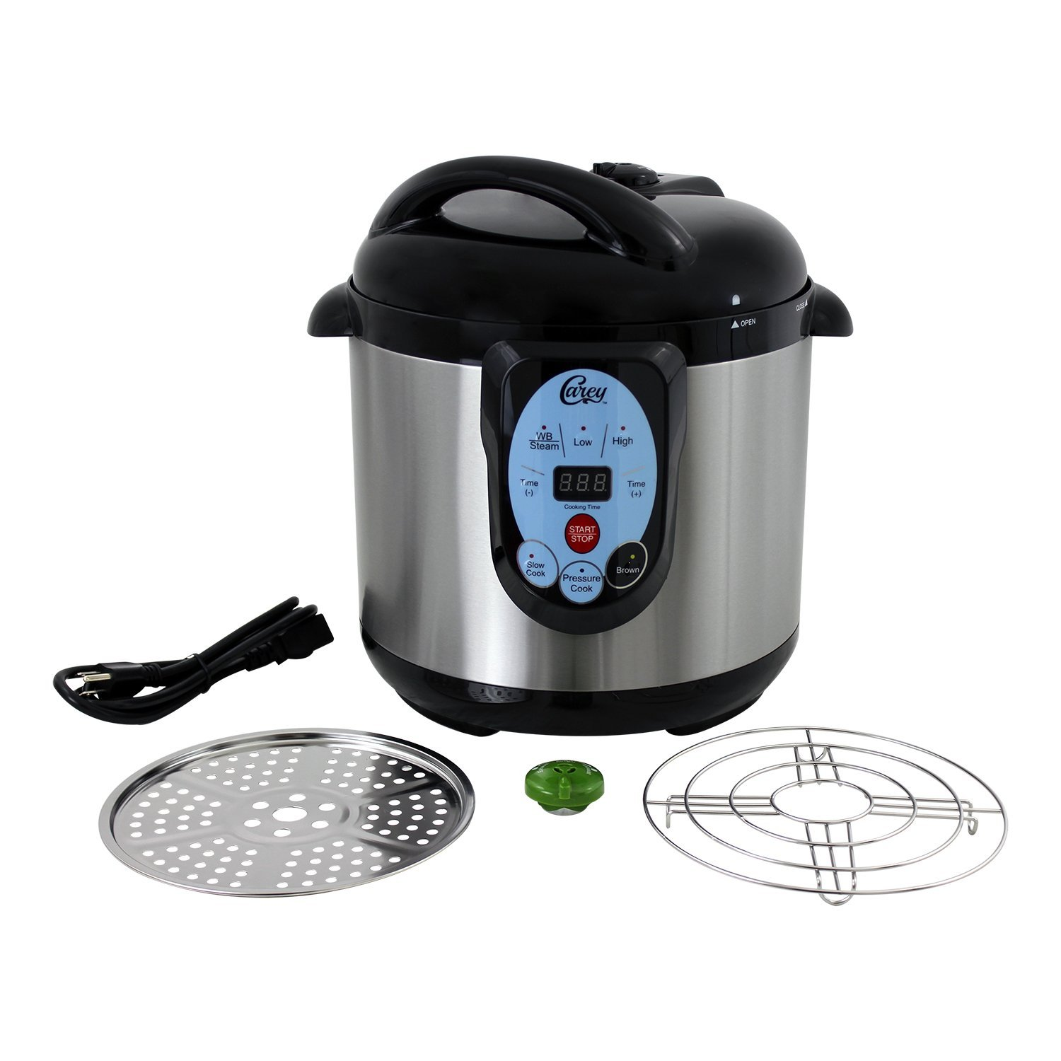 Carey Smart Digital Pressure 9.5 Qt Slow Steam Cooker & Canner Kitchen Appliance