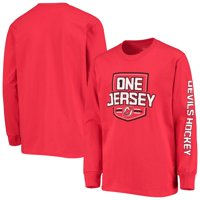 New Jersey Devils Fanatics Branded Youth One Jersey Long Sleeve T-Shirt - Red