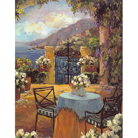 Seaside Terrace by Allayn Stevens12x9 Poster (Seaside Terrace)