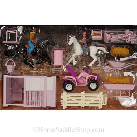 Bigtime Barnyard Pink 4 Wheeler and Stable Set