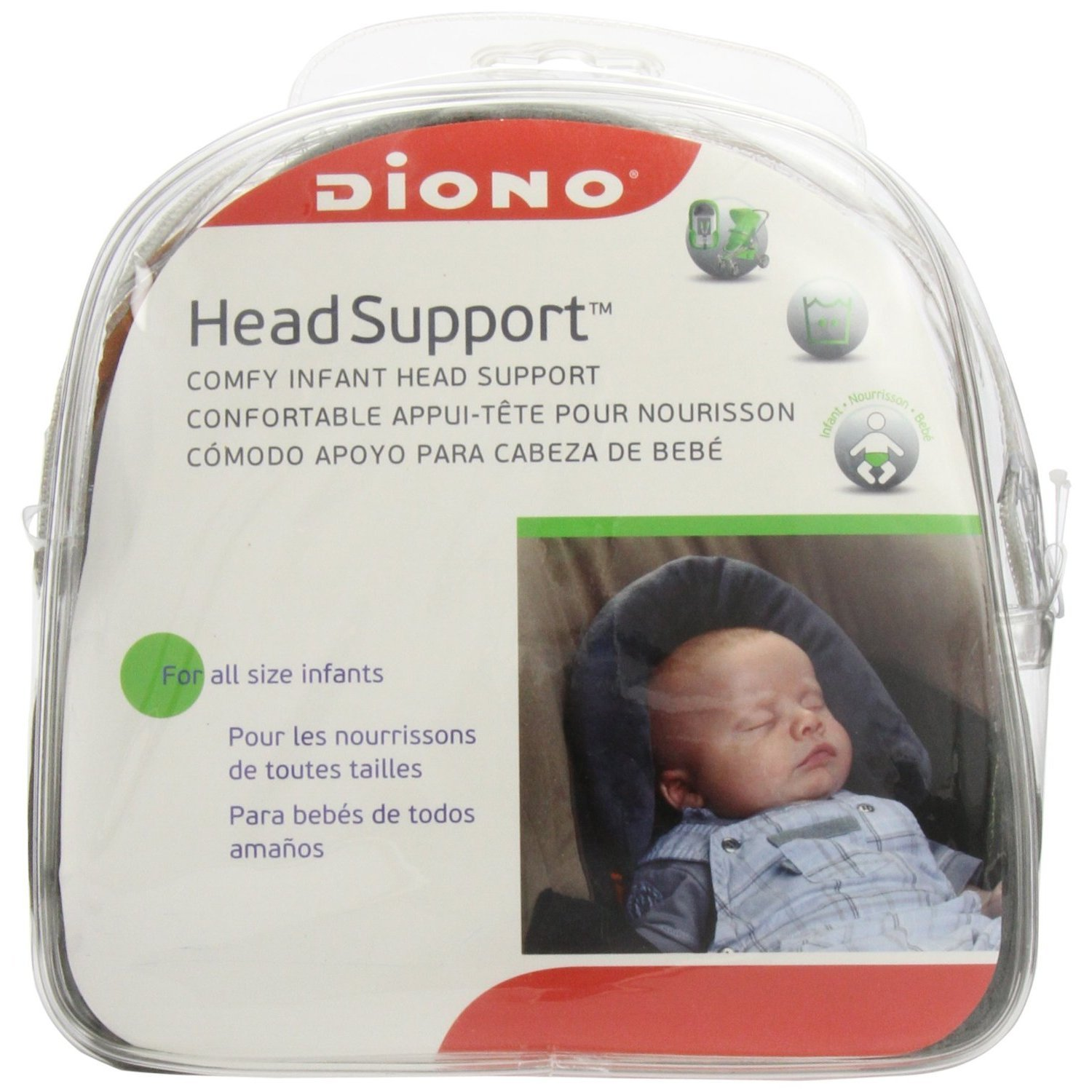 Diono Head Support - Grey
