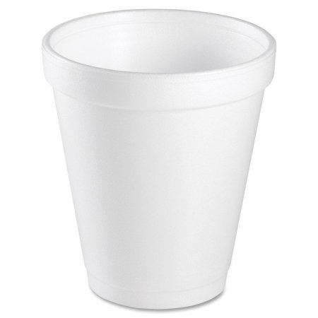 8 Oz White Disposable Coffee Foam Cups Hot and Cold Drink Cup, Pack of