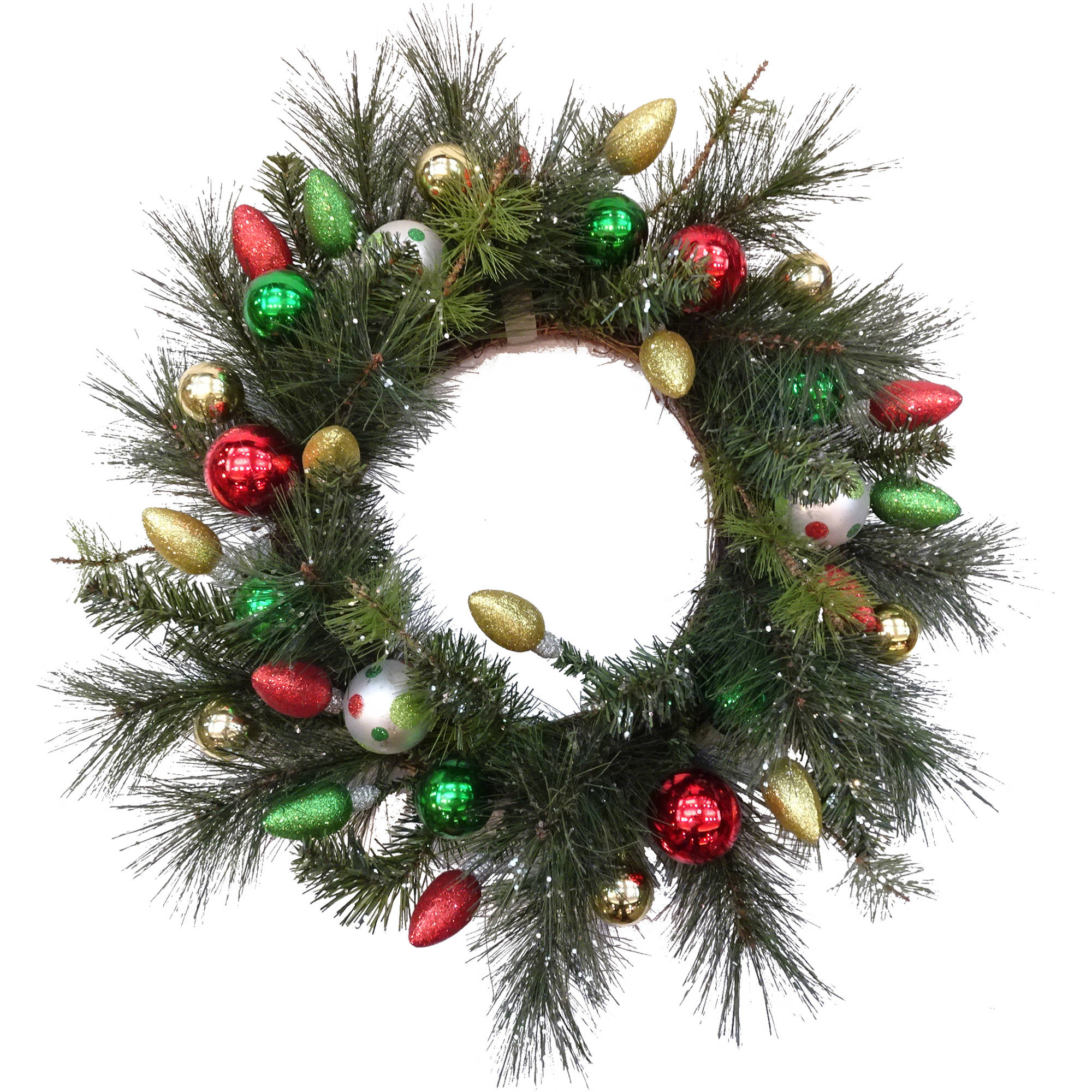 Deluxe Christmas Ornamental Ball Wreath