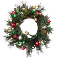 product image deluxe christmas ornamental ball wreath