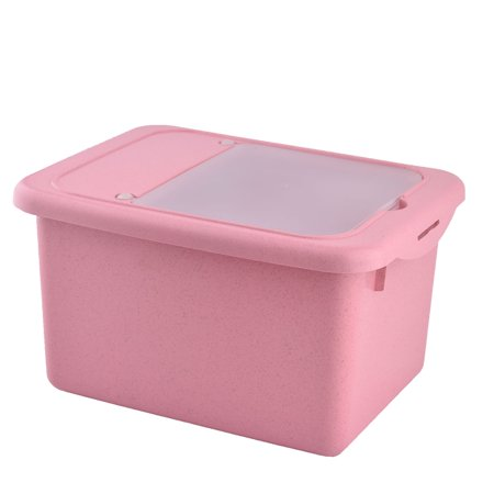 household kitchen plastic rice soybean container multifunction storage box pink. Black Bedroom Furniture Sets. Home Design Ideas