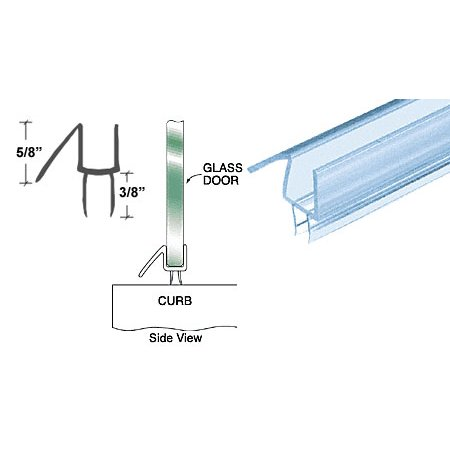 CRL Co-Extruded Clear Bottom Wipe with Drip Rail for 1/4