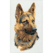 Thea Gouverneur Linen Counted Cross-Stitch Kit, Shepherd's Dog