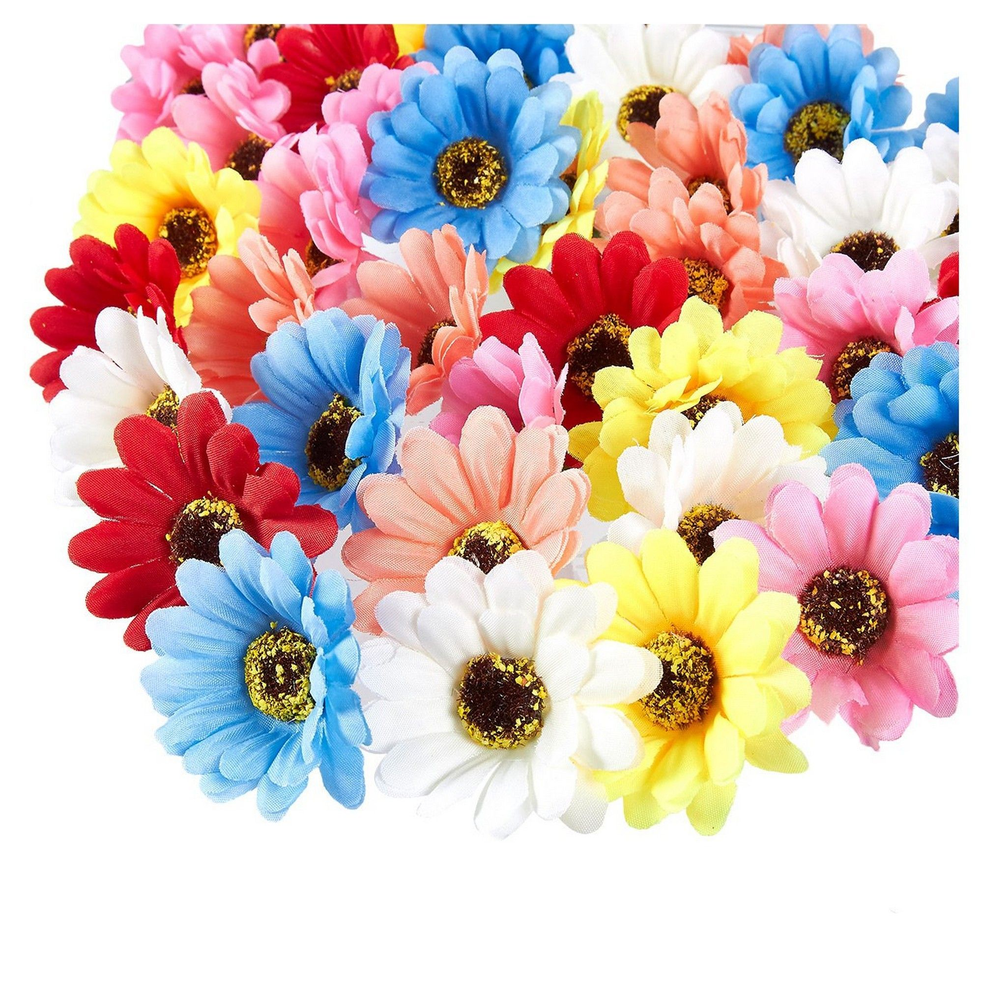 200 Small Plastic Flowers For Craft Cakes Cards Decoration