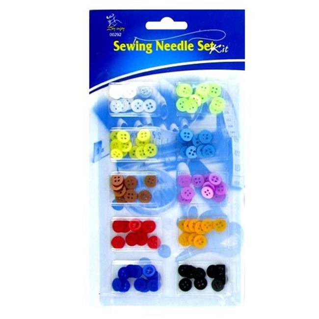 Deluxe Import Trading 84-00292 Sewing Needle Buttons Set Kit - 48 Packs