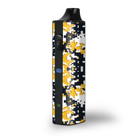 Digi Camo Handle - Skin Decal for Pulsar APX Herb Vape / Digi Camo Team Colors Camouflage Yellow Blue
