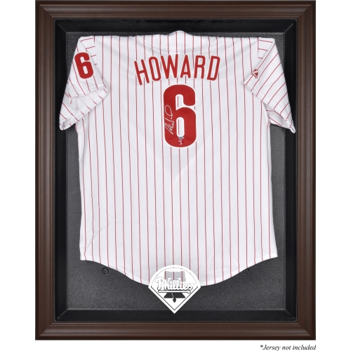 Philadelphia Phillies Fanatics Authentic Brown Framed Logo Jersey Display Case - No Size
