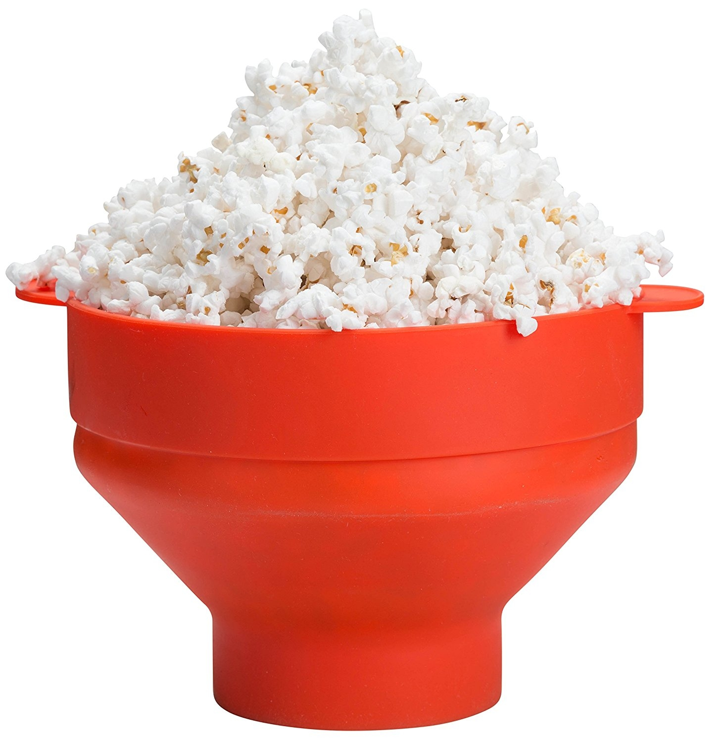 Microwave Silicone Collapsible Popcorn Popper, by Kitchen Winners (Orange)