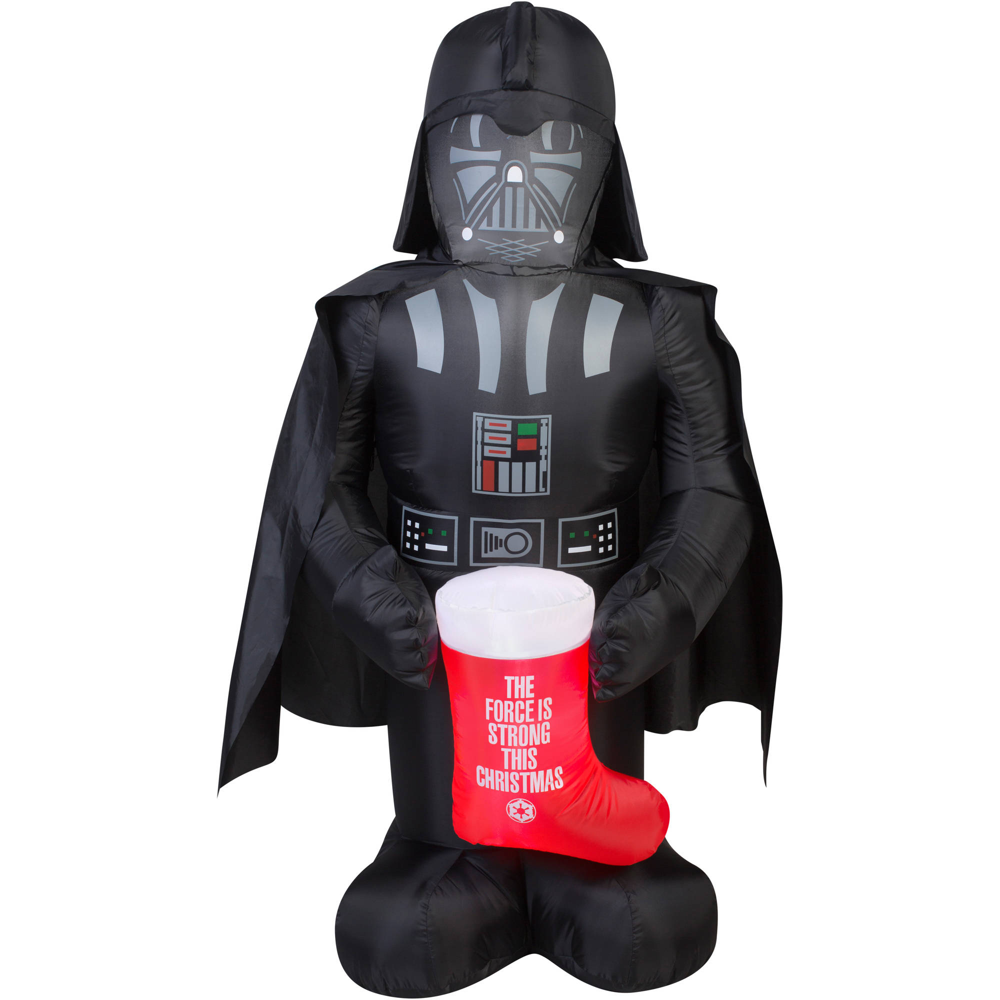 5 airblown inflatable darth vader with stocking star wars christmas inflatable walmartcom - Star Wars Inflatable Christmas Decorations