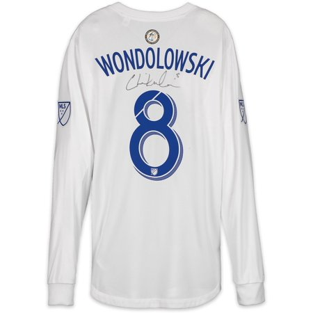 info for 9936f 7b78b Chris Wondolowski San Jose Earthquakes Autographed Match-Used White #8  Jersey from the 2018 MLS Season - Fanatics Authentic Certified