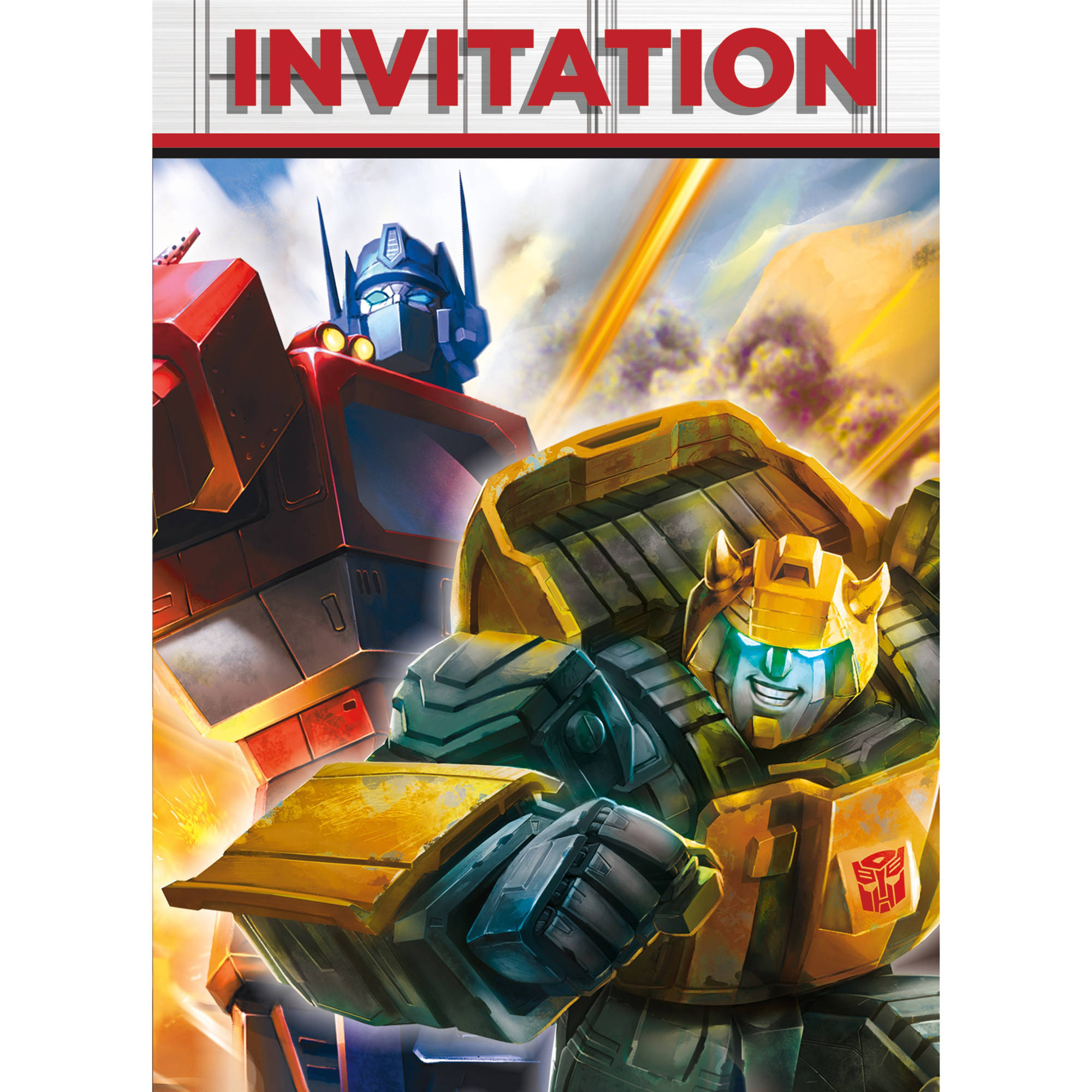 Transformers Invitations 8ct Walmartcom