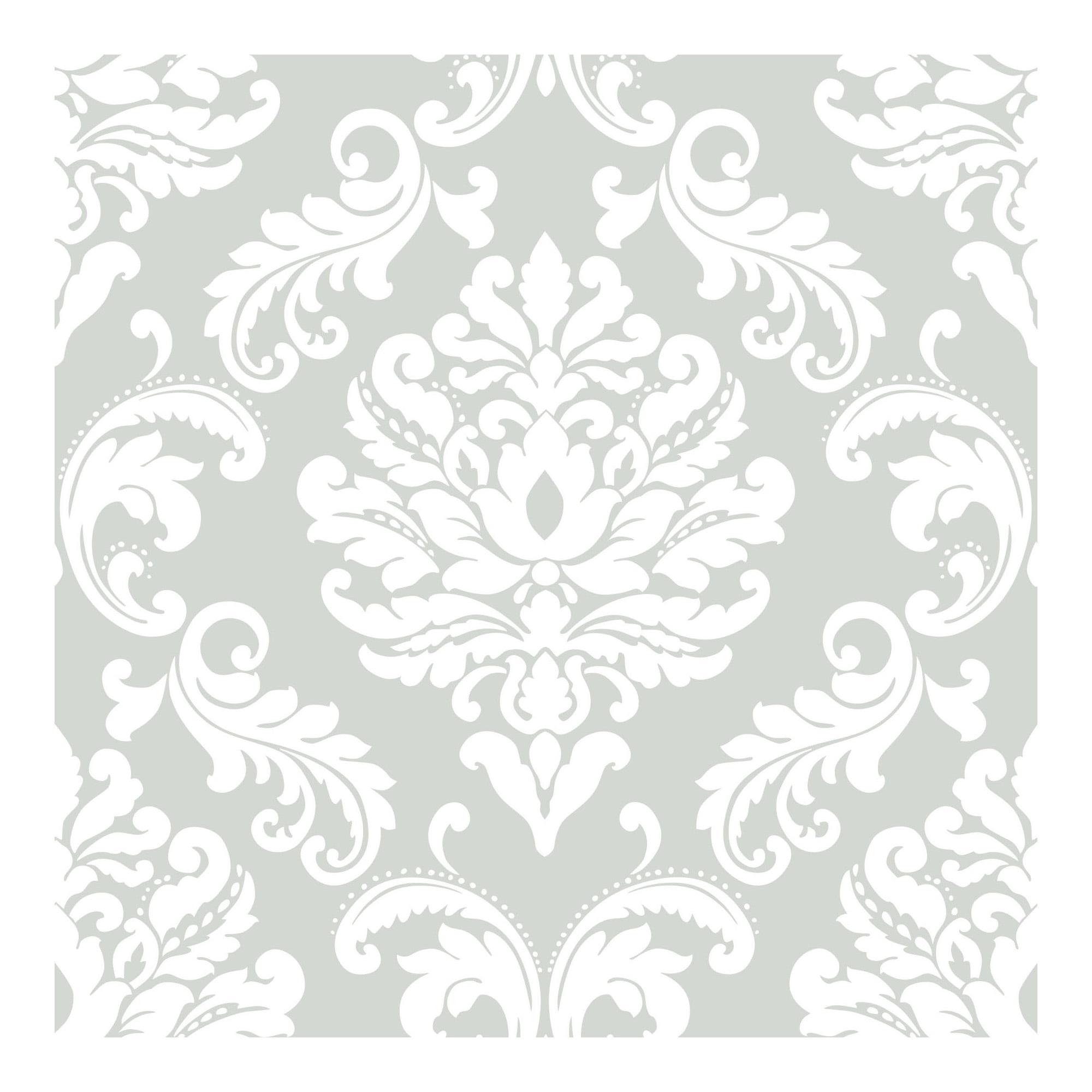 NuWallpaper Ariel Grey Peel & Stick Wallpaper