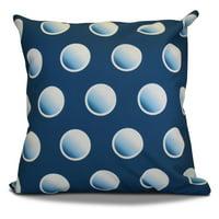 Simply Daisy, 16 x 16-inch, Dip Dye Dots, Geometric Print Outdoor Pillow
