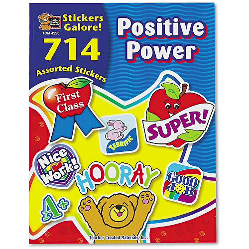 Teacher Created Resources Sticker Book, Positive Power, 714/Pack