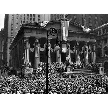 1942 Wwii War Bond Rally Federal Treasury Building New York Stock Exchange Wall Street Manhattan New York City Usa Print