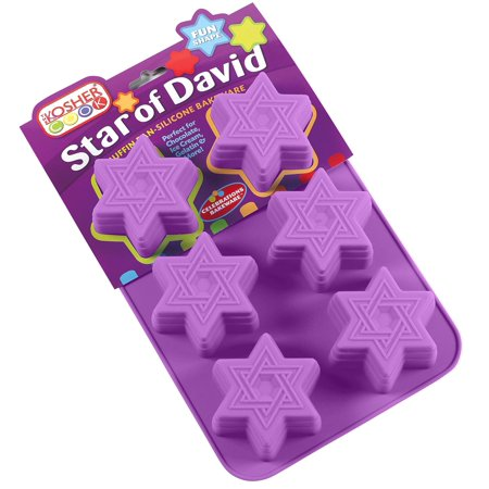 The Kosher Cook Star of David Muffin Pan - Silicone Magen Dovid Cupcake Molds - Bake or Freeze for Chocolate, Ice Cream, Cakes and More - Oven and Freezer Safe