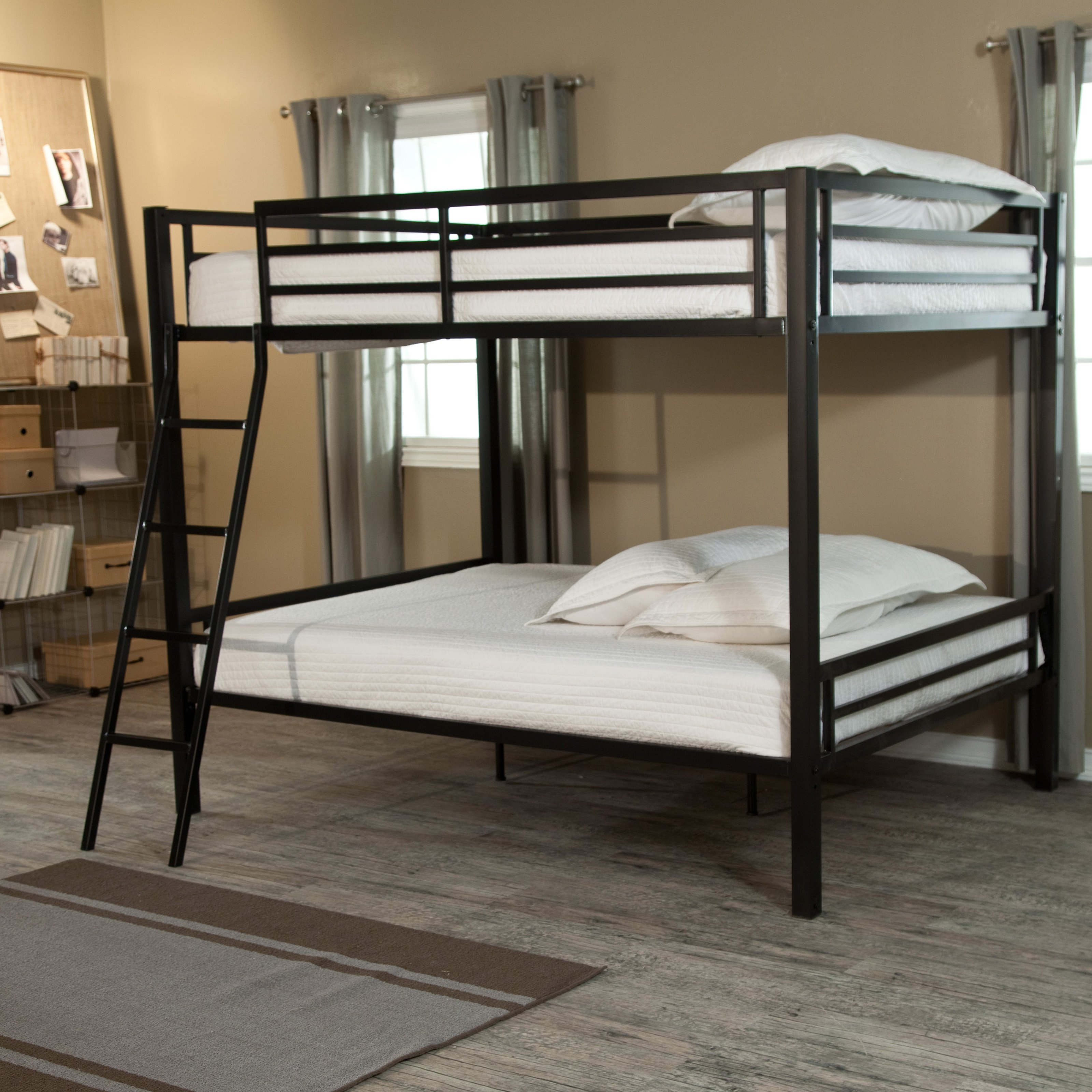 Duro Hanley Full over Full Bunk Bed Black by