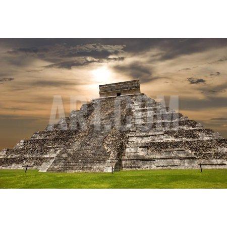 - Ancient Mayan Pyramid, Kukulcan Temple at Chichen Itza, Yucatan, Mexico Print Wall Art By ruivalesousa