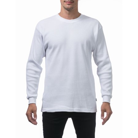 - Pro Club Men's Heavyweight Cotton Long Sleeve Thermal Top, Small, White