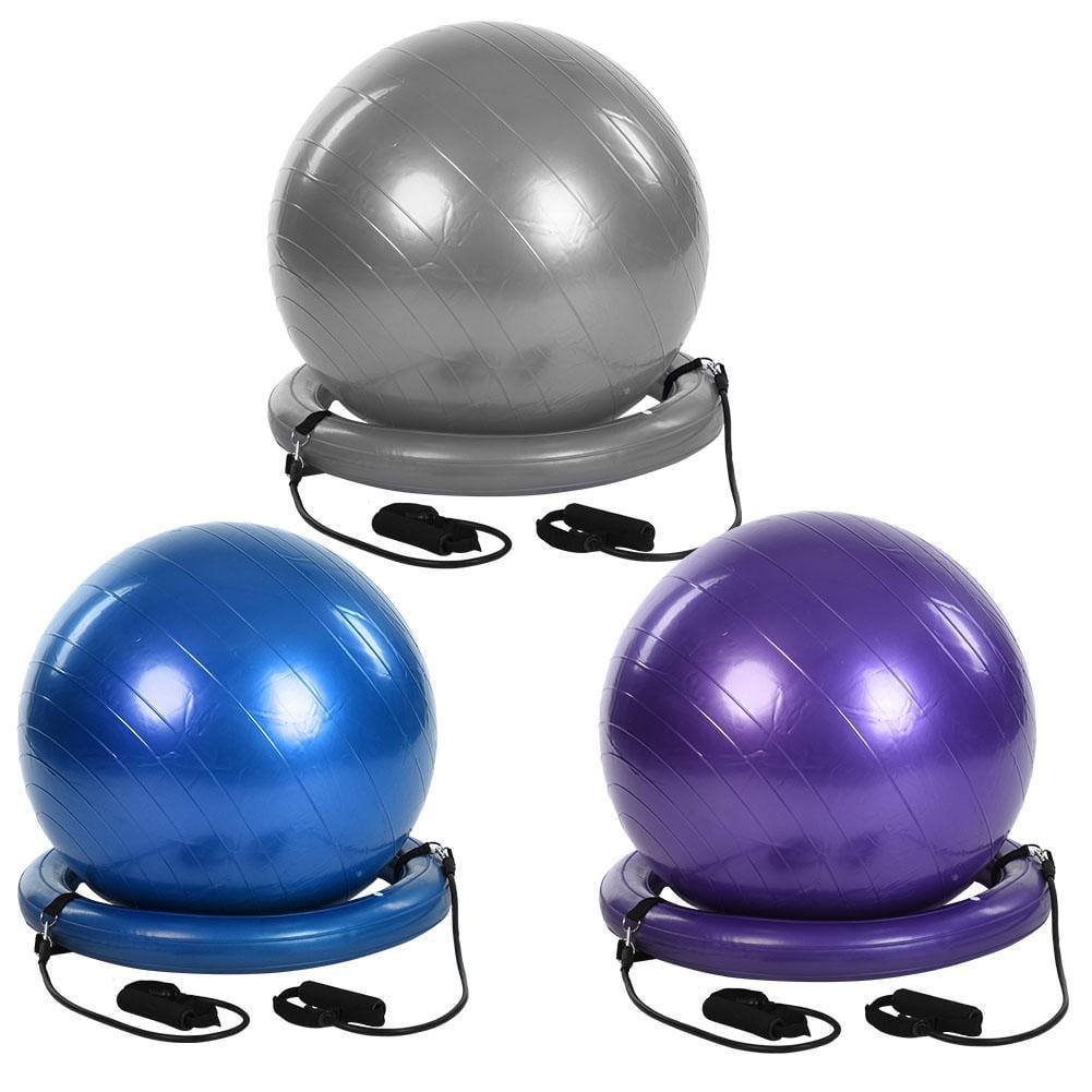 Lv. life Yoga Fitness Balancing Exercise Ball with Resistance Bands Base,Exercise Ball, Yoga Ball
