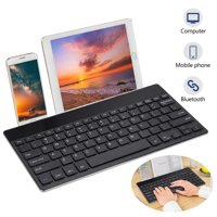 TSV Portable Wireless Bluetooth Keyboard for Laptop, Tablet and Mobile Phone, Rechargeable Wireless Keyboard Ultra-slim Ergonomic Keyboard [Foldable Bracket], Smooth Keyboard for Computer Gamer