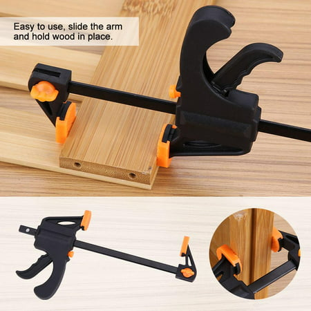 Quick Grip 24 Bar (4pcs 4inch Bar F Clamps Clip Grip Quick Ratchet Release Woodworking DIY Hand Tool Kit,F Clamp, Bar Clamp )