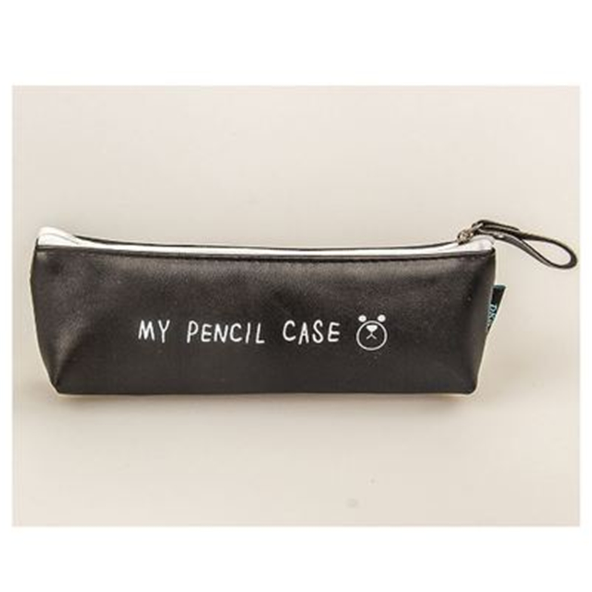 Classical Student Pencil Bag Case Cosmetic Pen PU Leather Bags Organizer Holder