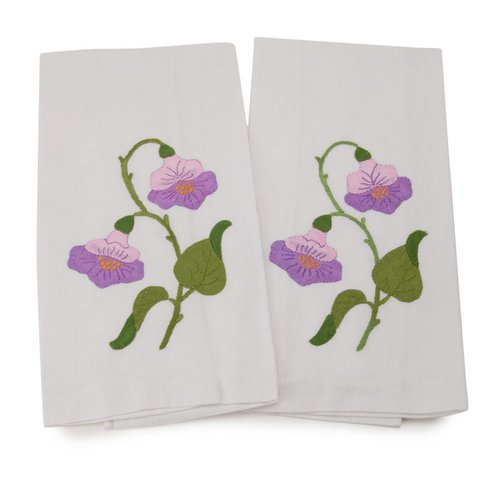 Gerbrend Creations Inc. Guest Linen Hand Towel (Set of 2)
