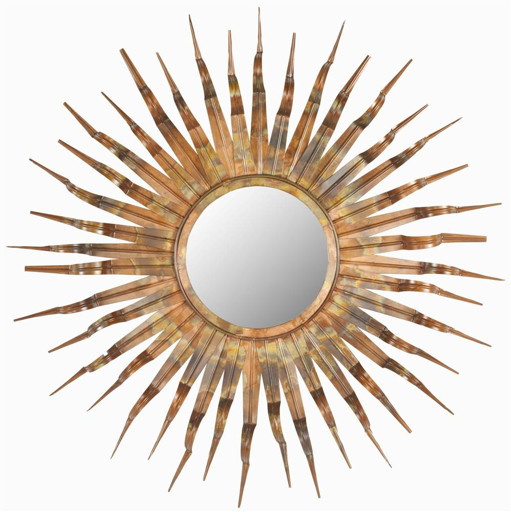 37 in. Sun Mirror in Copper Finish