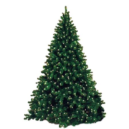 Queens of Christmas WL-TRNAT-12-LWW 12 ft. Artificial Christmas Tree with Metal Stand Pre-Lit