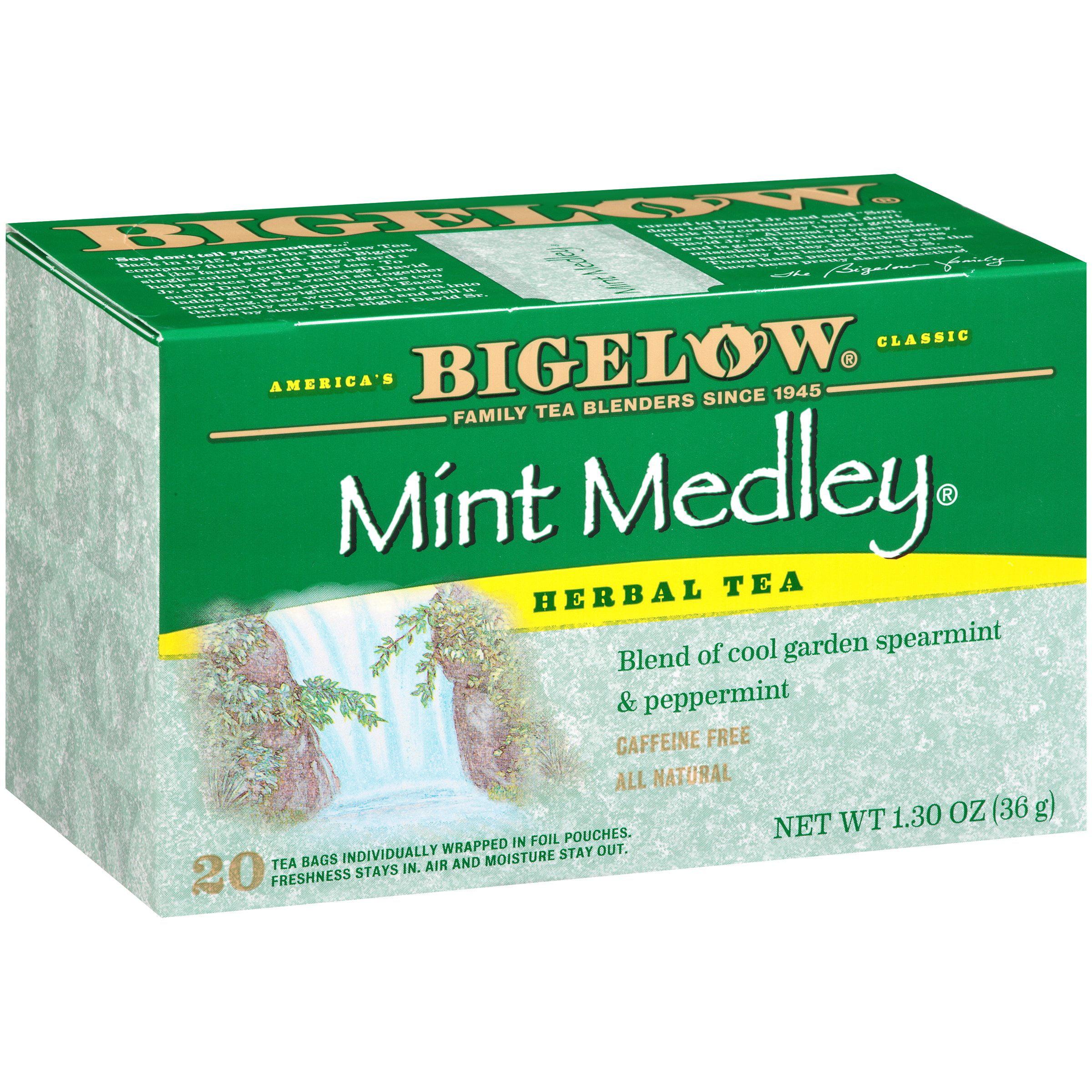 Bigelow Mint Medley Herbal Tea 1.30 oz. Box by RC Bigelow, Inc.
