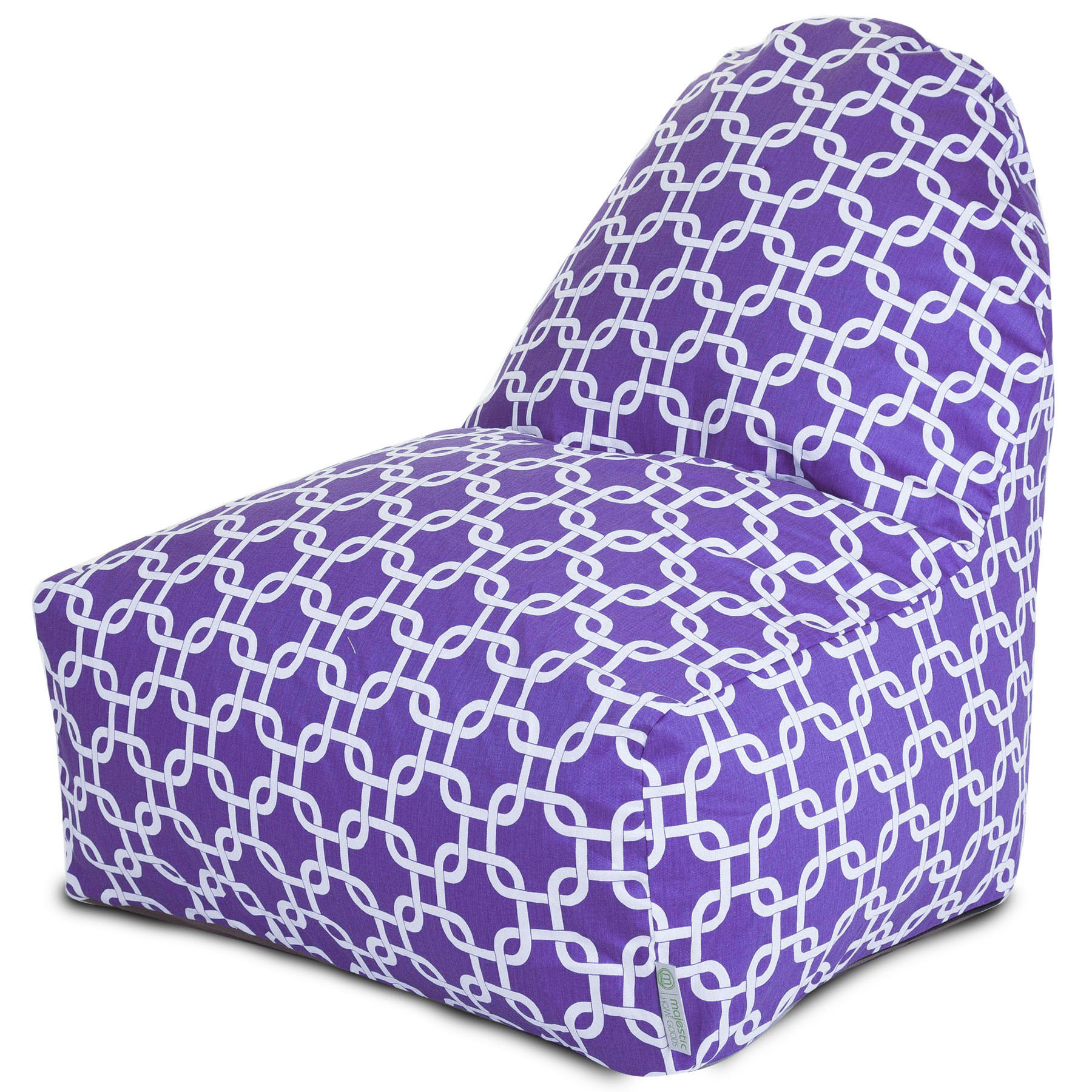 Majestic Home Goods Indoor Purple Links Bean Bag Kick-it Chair 30 in L x 26 in W x 30 in H