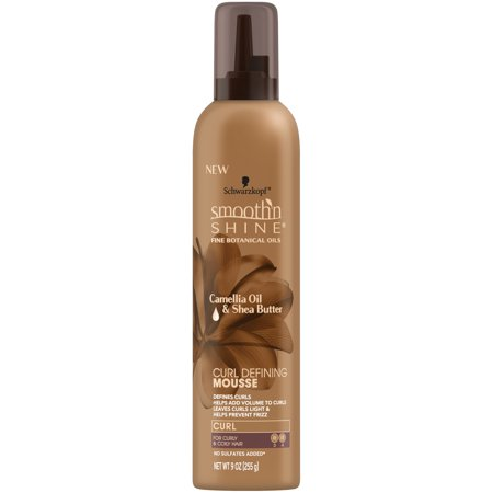 Tamer Smoothing Gel - Smooth 'n Shine Curl Defining Mousse, 9 Ounce