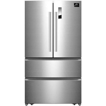 Forno FFFFD190733S 19 Cu. Ft. Stainless 4-Door French Door Refrigerator