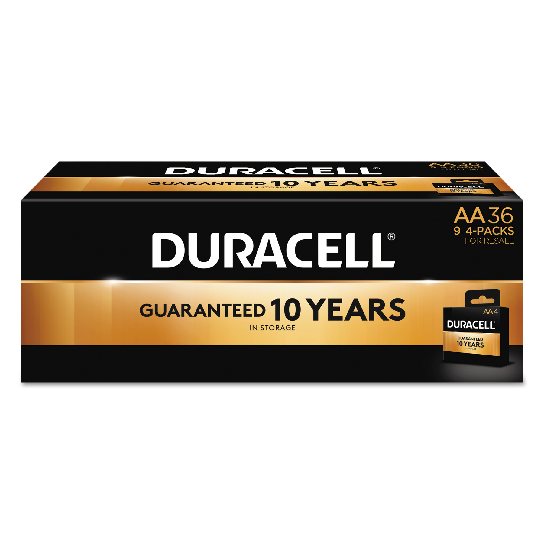 Duracell CopperTop Alkaline Batteries, AA, 36/PK