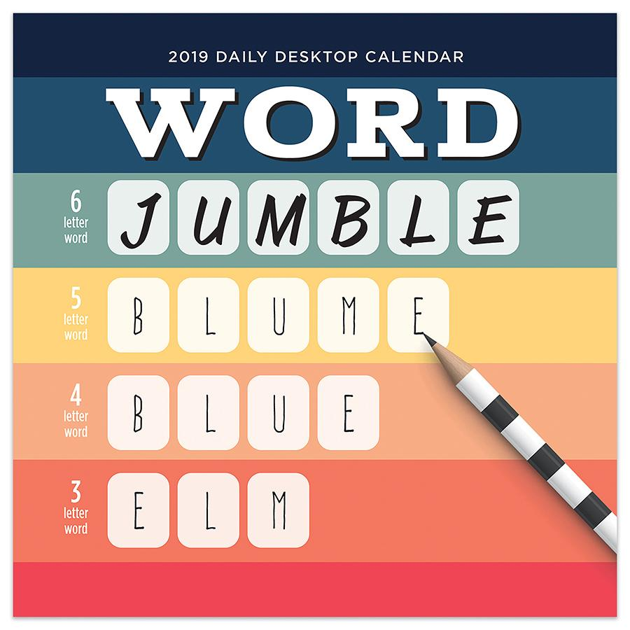 "2019 Word Jumble 5.5"" x 5.5"" January 2019-December 2019 Daily Desktop Calendar by TF Publishing"
